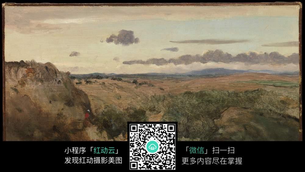 精美欧式山野油画图片