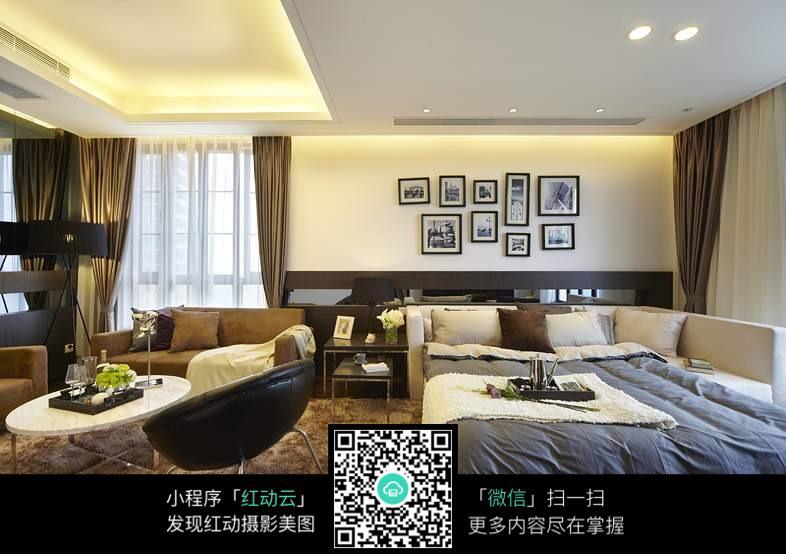 免费素材 图片素材 环境居住 室内设计 客厅卧室一体化  请您分享