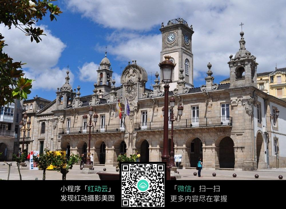 欧式教堂建筑高清图片