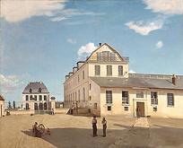 欧洲人物建筑油画图片