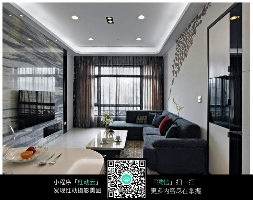 简洁舒适客厅室内装修效果图
