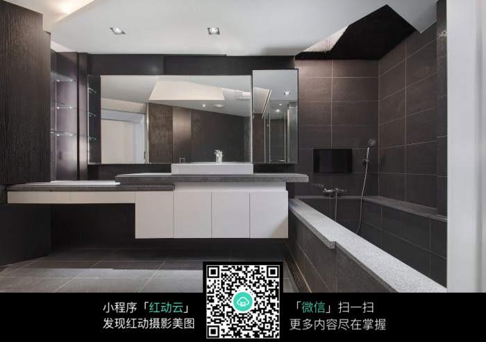 时尚创意概念浴室装修效果图
