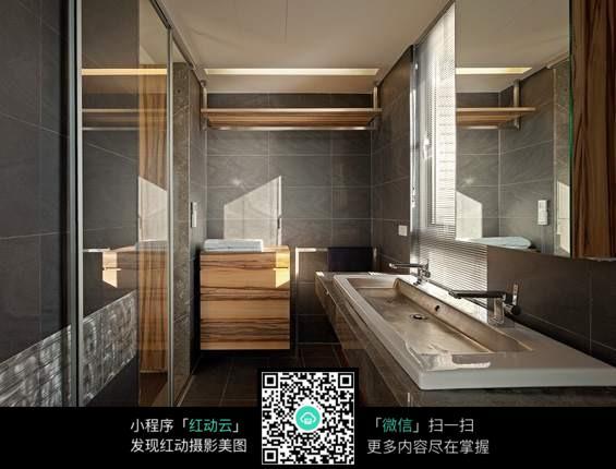 白色瓷砖洗手池图片素材_室内设计图片