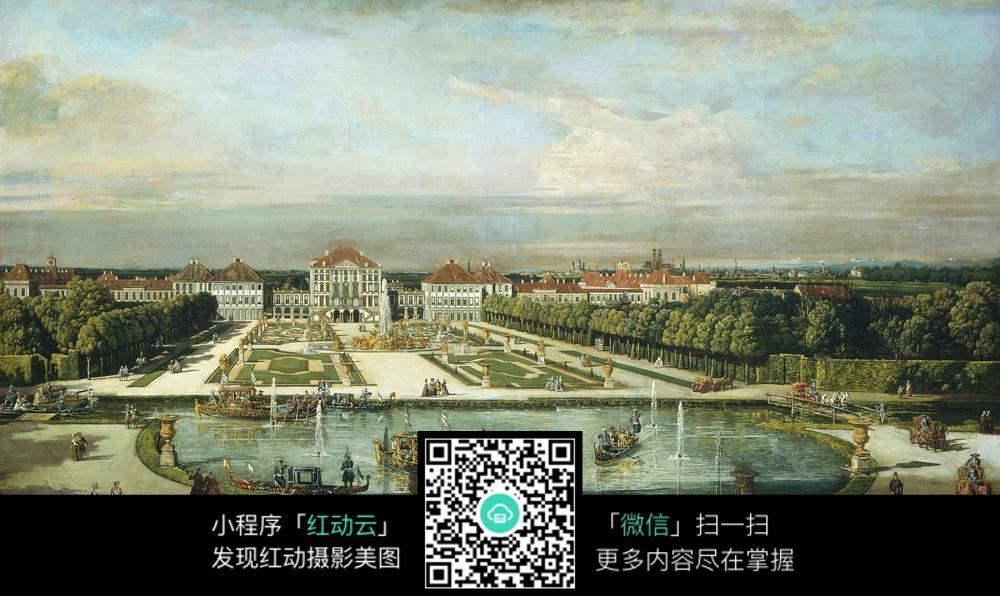 城市休闲广场景观手绘图
