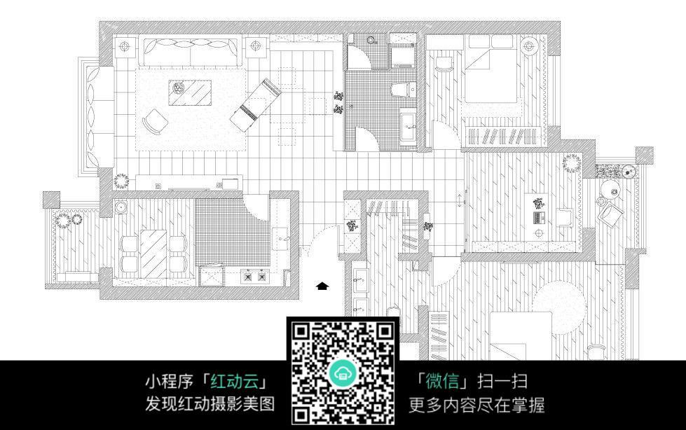 房间平面布置图_室内设计图片
