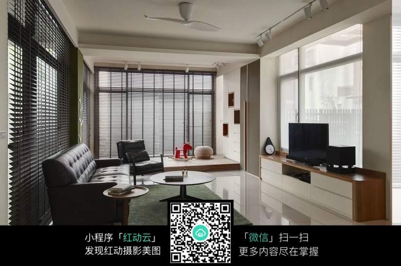 客厅大阳台_室内设计图片