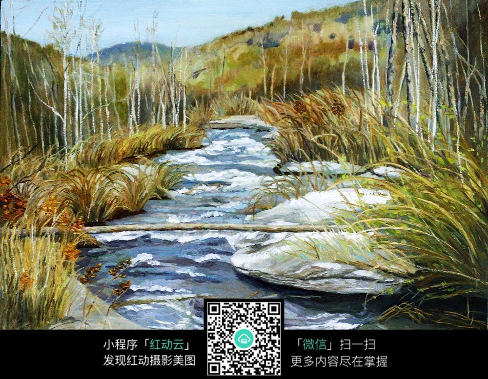 流动的河水图片素材