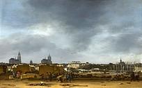 欧洲写意油画作品图片素材