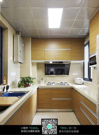 室内设计u形厨房效果图