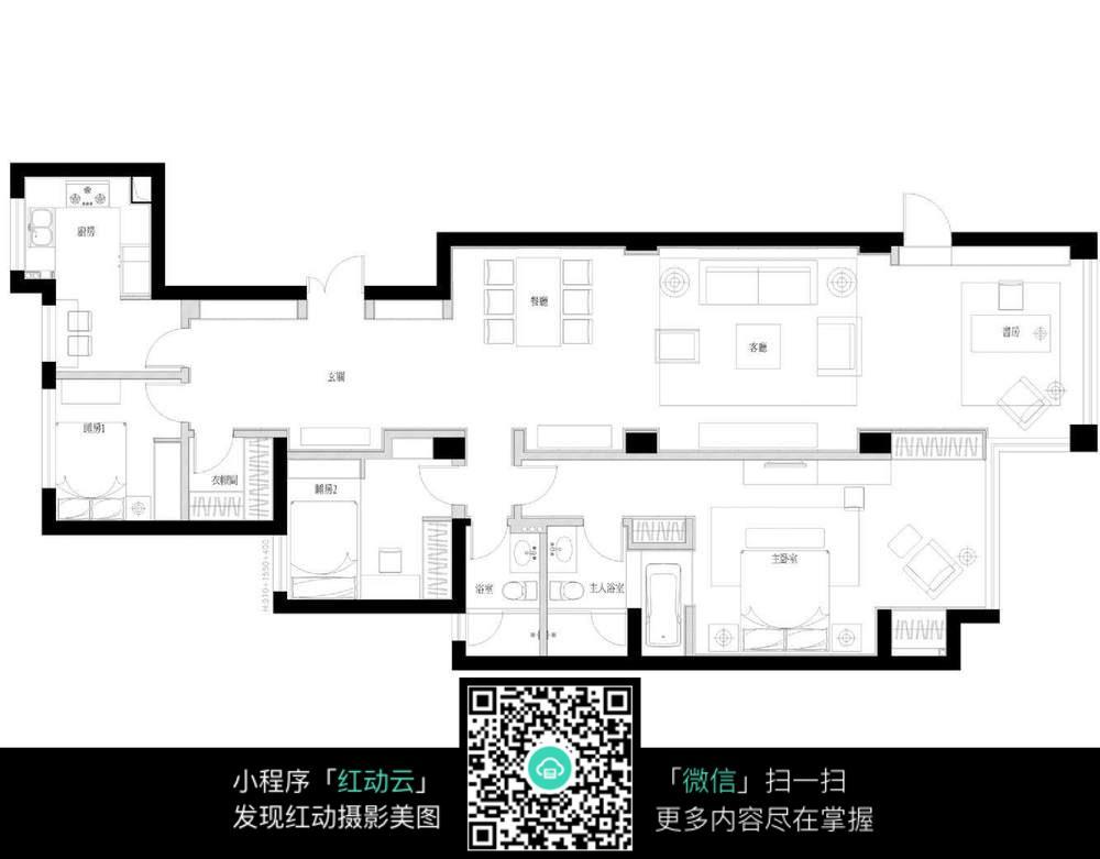 室内设计平面布置图