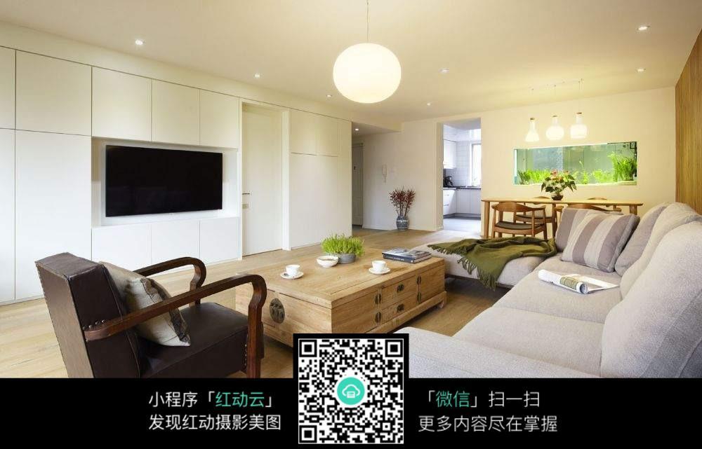 温馨复古木质客厅室内装修效果图