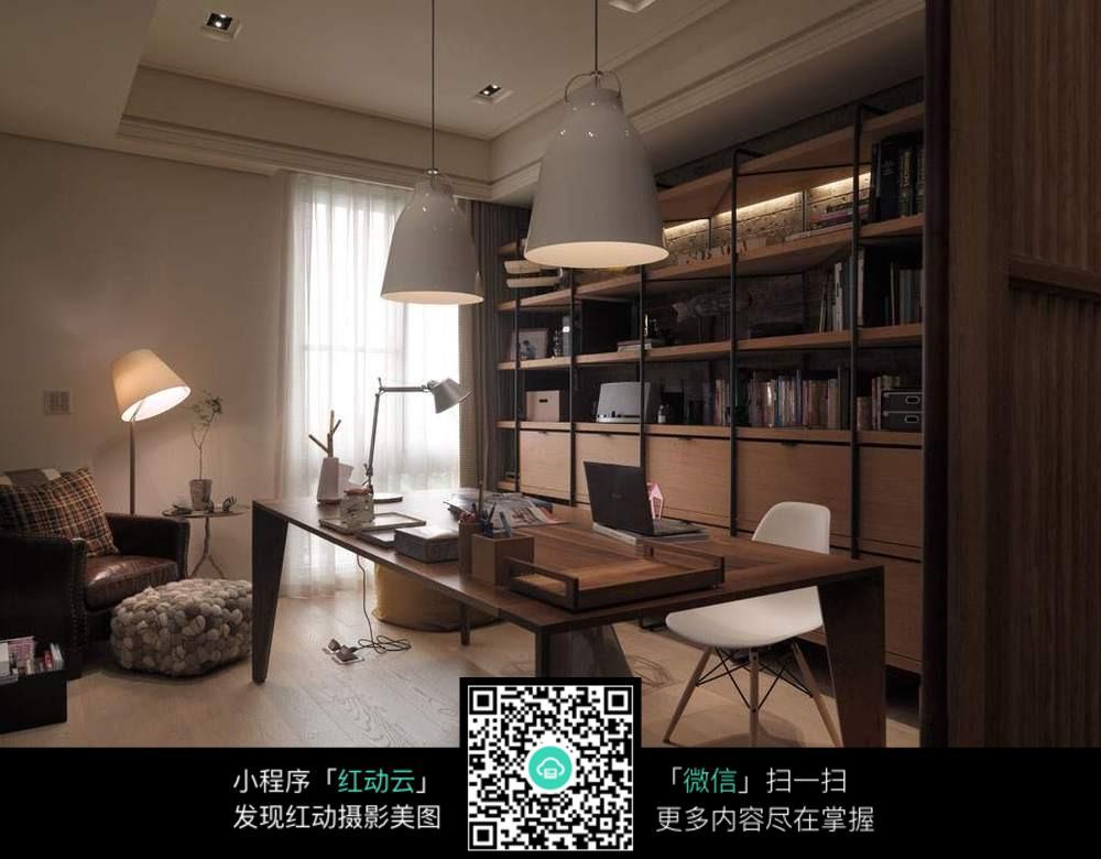 温馨书房装修效果_室内设计图片图片