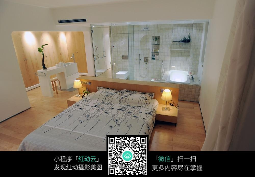 卧室效果图 温馨卧室 室内效果图 装饰装潢 jpg 室内设计 摄影图片