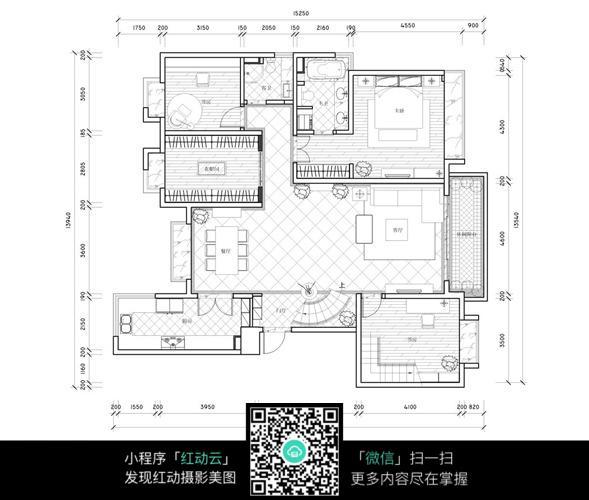 一层室内装修平面布置设计图