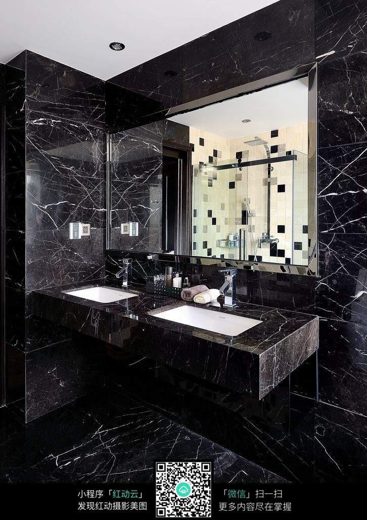 免费素材 图片素材 环境居住 室内设计 浴室黑色大理石