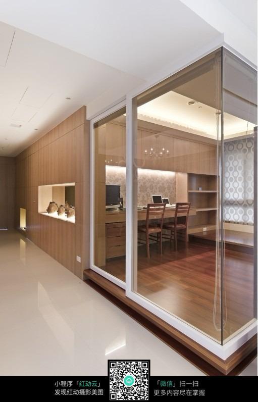 玻璃窗书房室内装修效果图图片图片