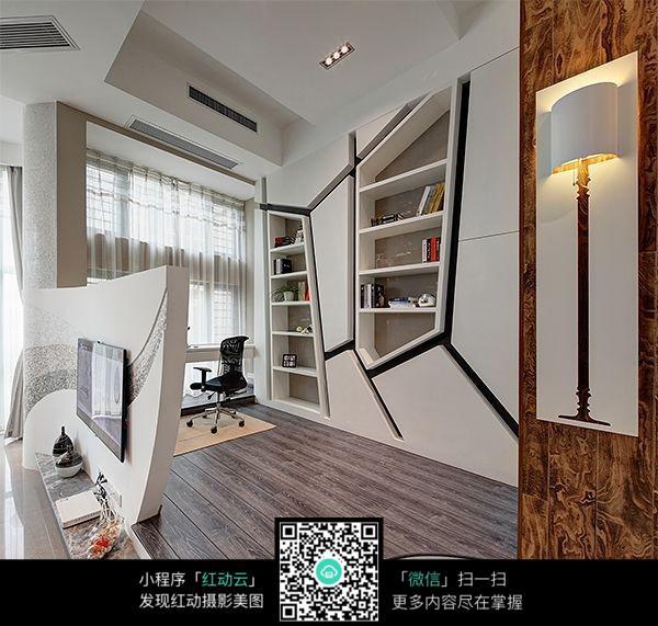 创意不规则墙面室内装修效果图