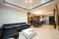 宽敞的客厅餐厅大户型家装效果图