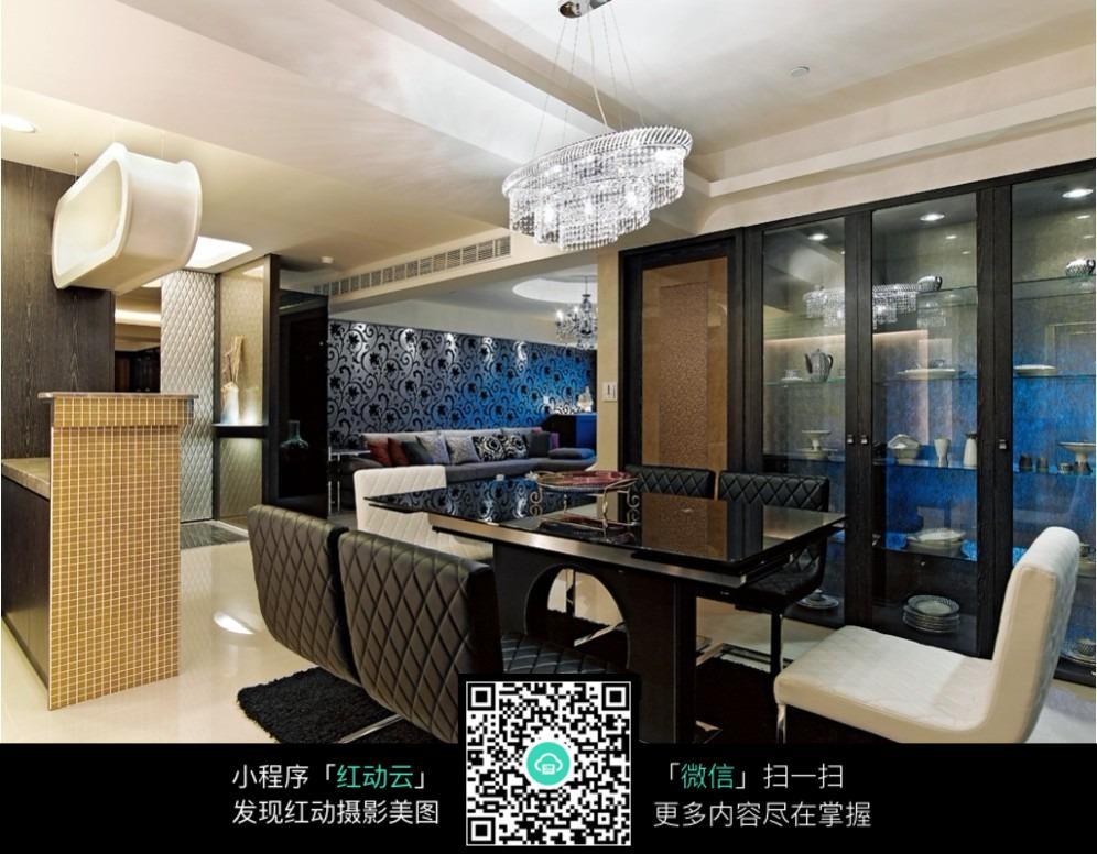 免费素材 图片素材 环境居住 室内设计 皮质座椅餐桌室内效果图  请您