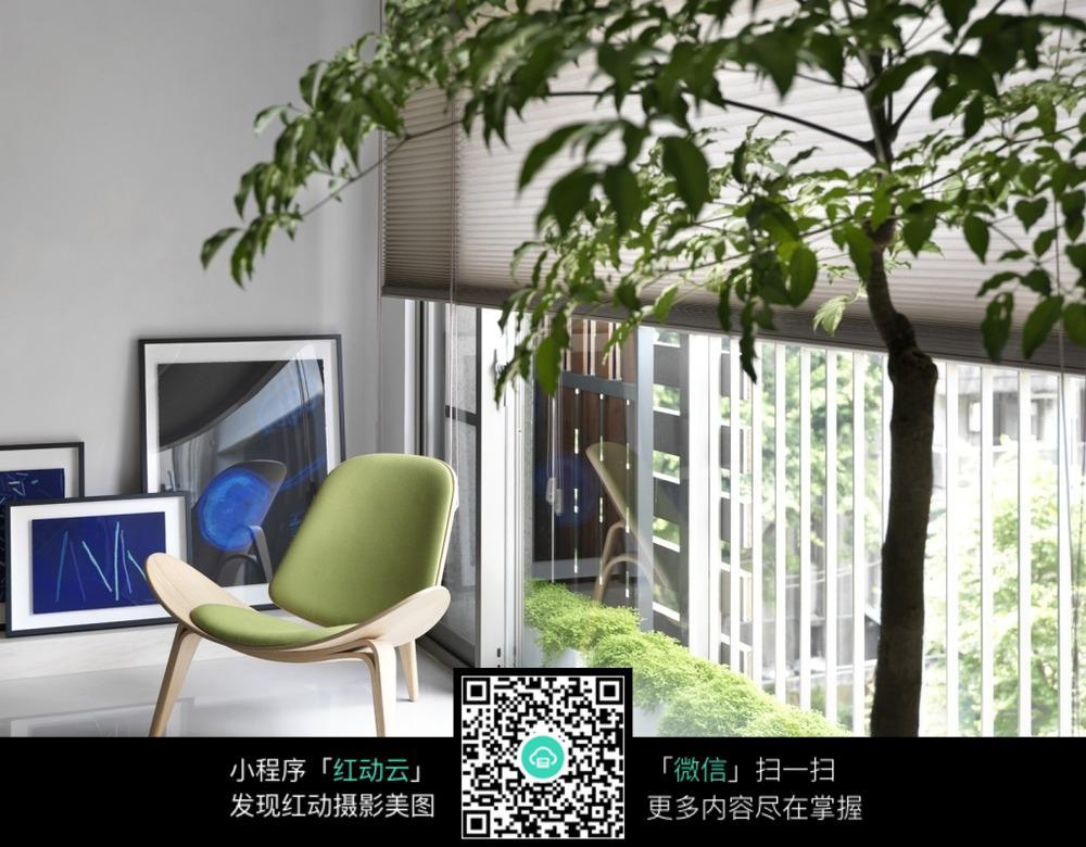 阳台椅子3d效果图