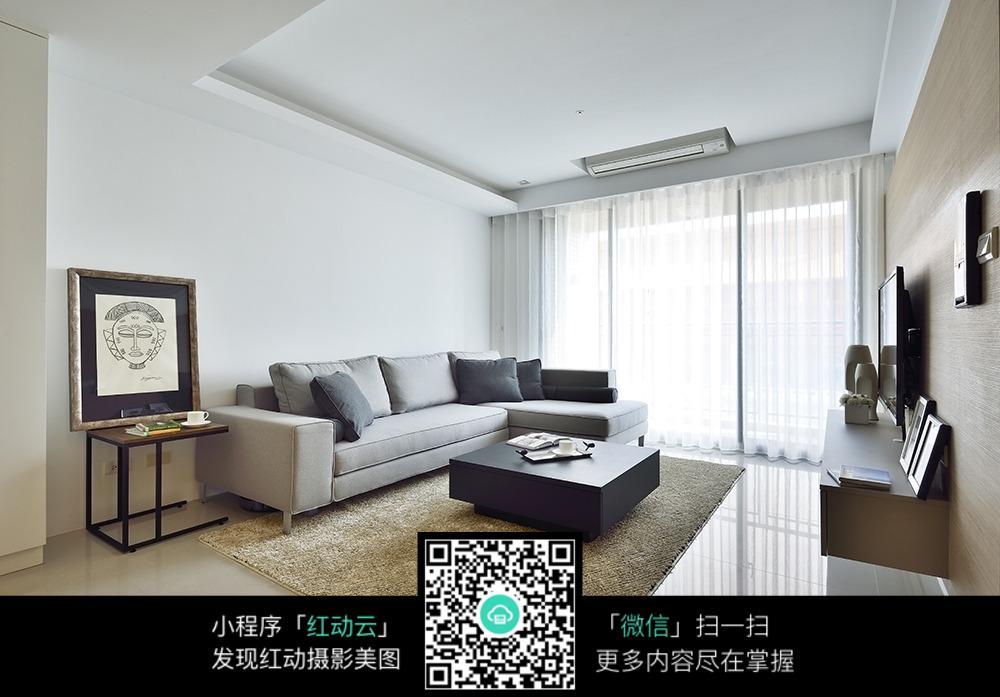 简洁大气客厅室内装修效果图