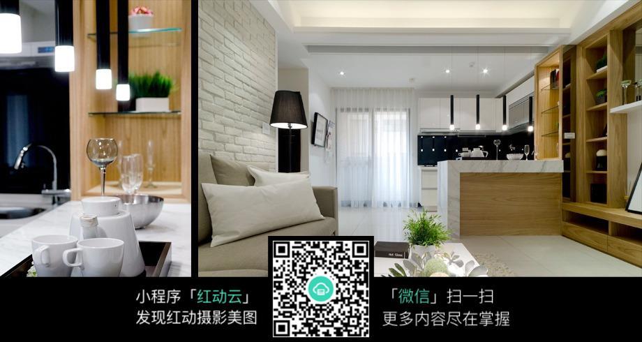 客厅厨房室内装修效果图
