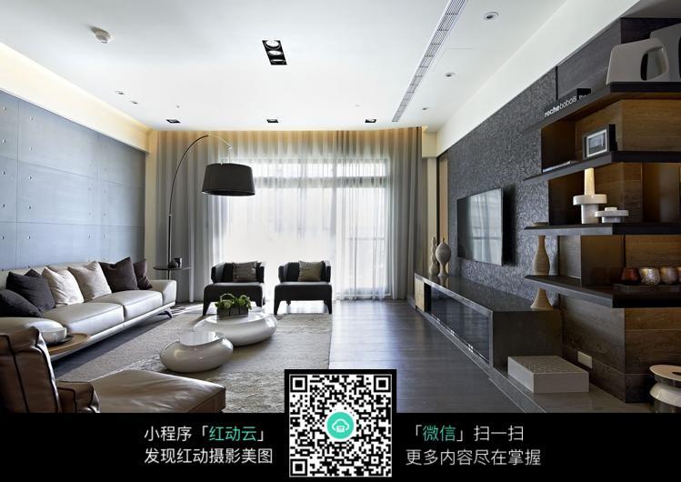 宽敞明亮客厅室内装修效果图图片