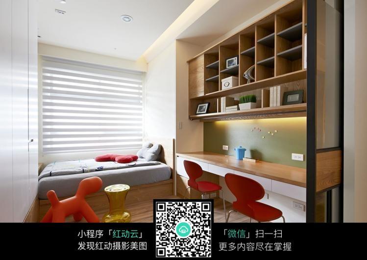 免费素材 图片素材 环境居住 室内设计 省空间寝室室内装修效果图  请图片