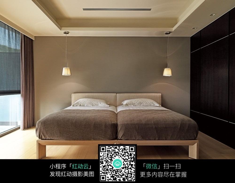 创意酒店标间室内装修设计效果图图片图片