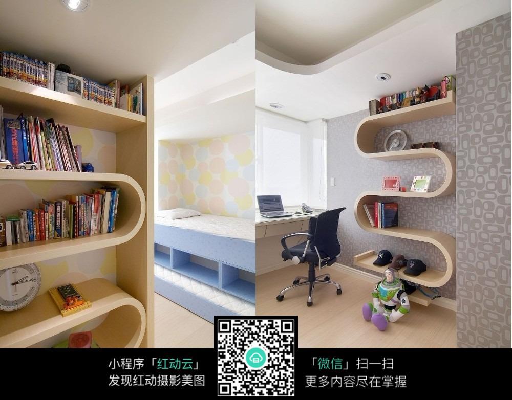 创意书架书房室内装修设计图片