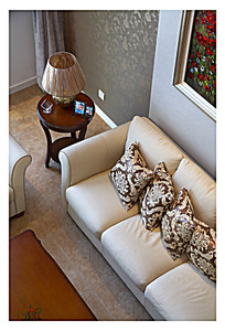 俯视家居装饰客厅一角
