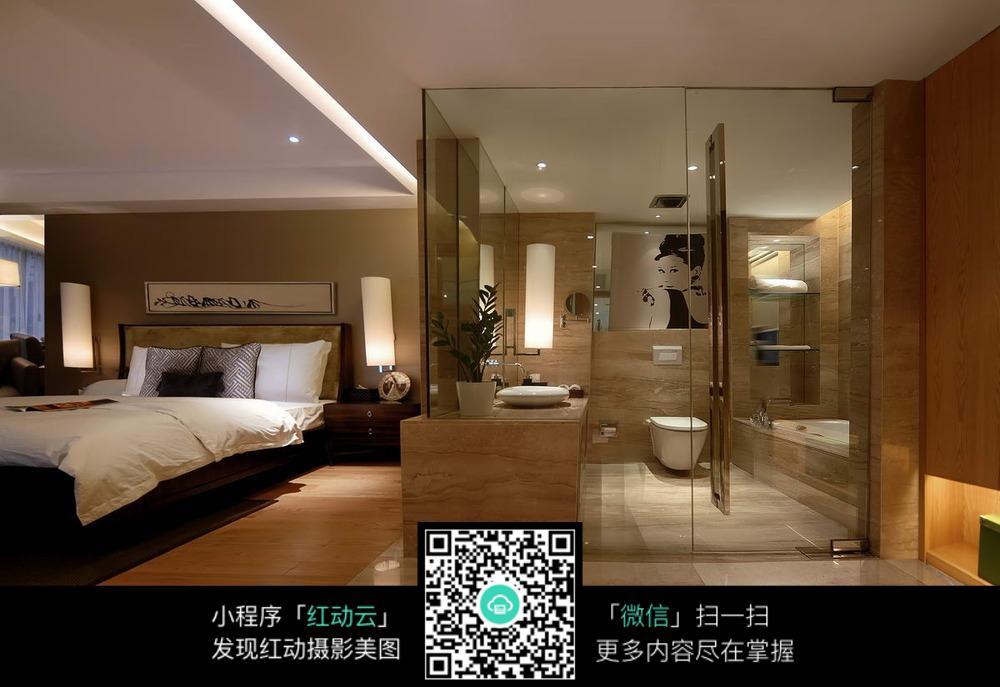 高档卧室卫生间装潢