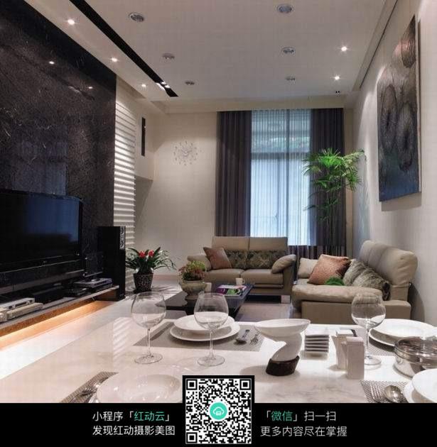 豪华家居客厅设计全景图图片