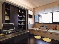 黑白大气书房设计效果图片图片