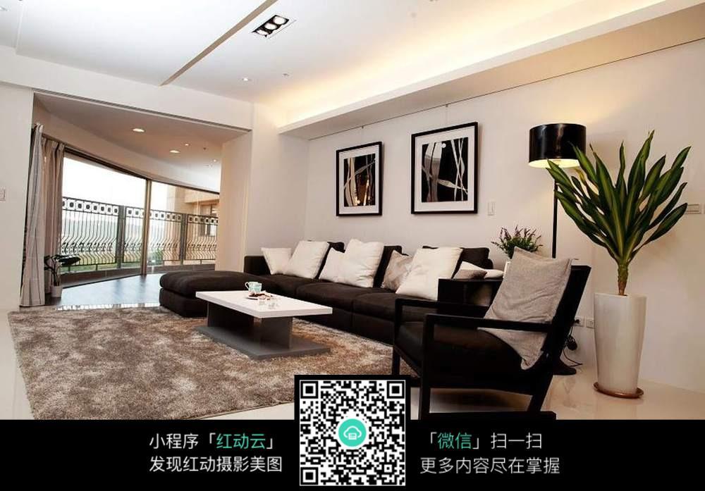 免费素材 图片素材 环境居住 室内设计 毛地毯客厅