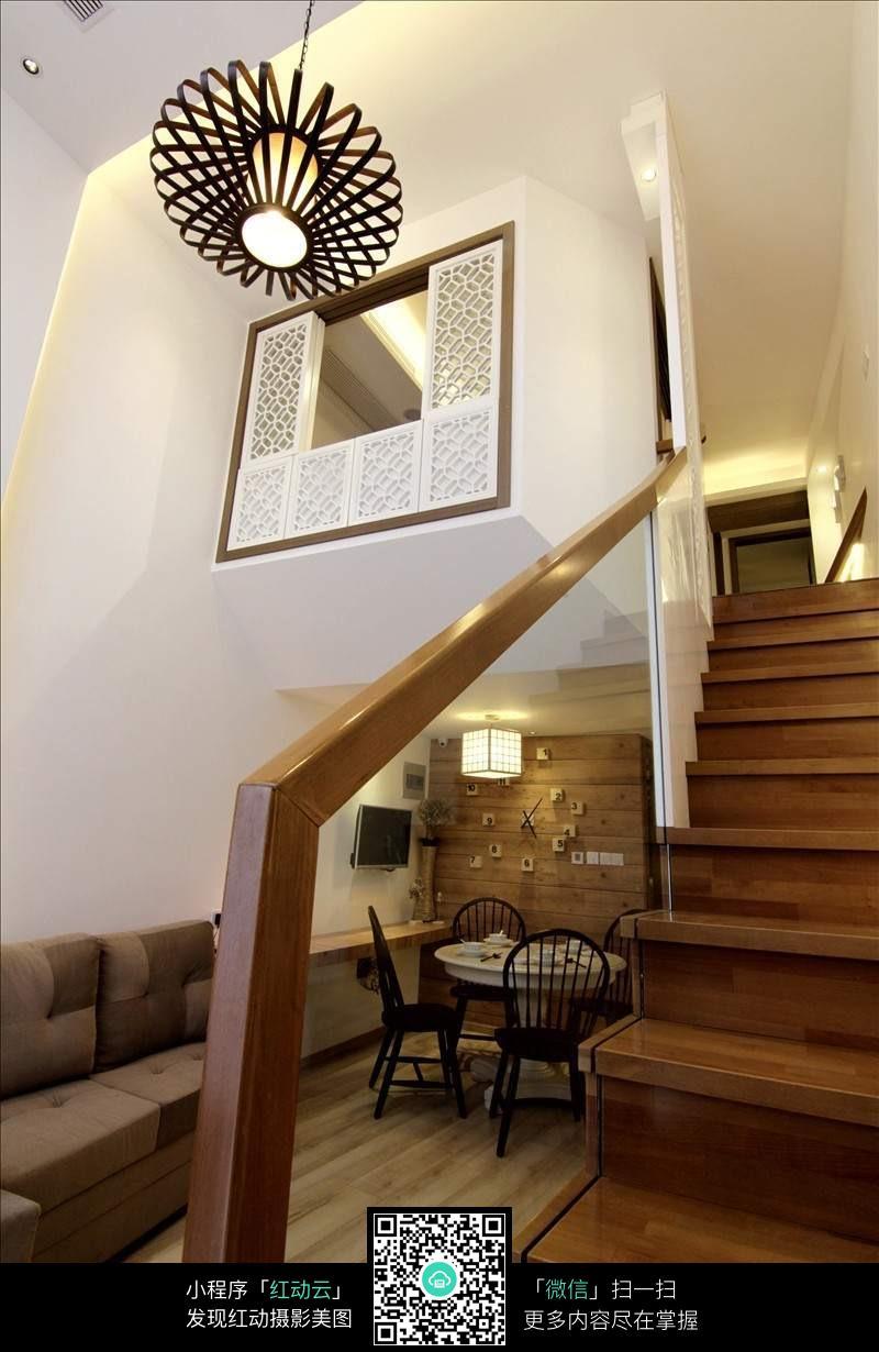木质客厅楼梯设计效果图片