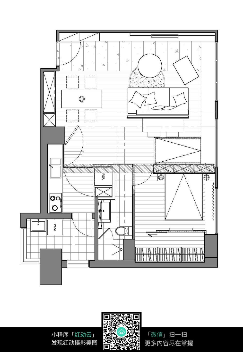 室内设计平面图【相关词_ cad室内设计平面图】