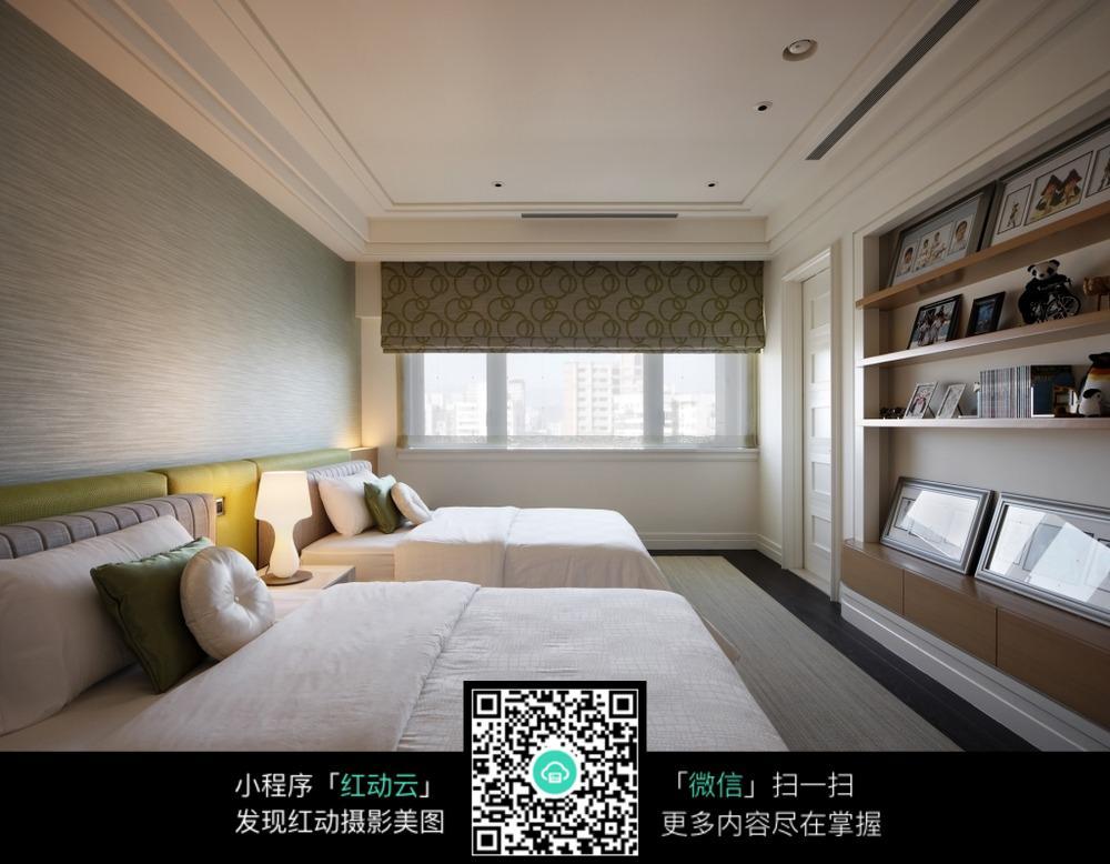 极简双人卧室装修设计效果图