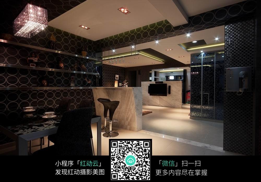 酒吧式客厅室内装修效果图