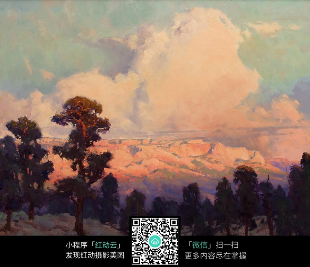 夕阳云彩美景室内装饰画
