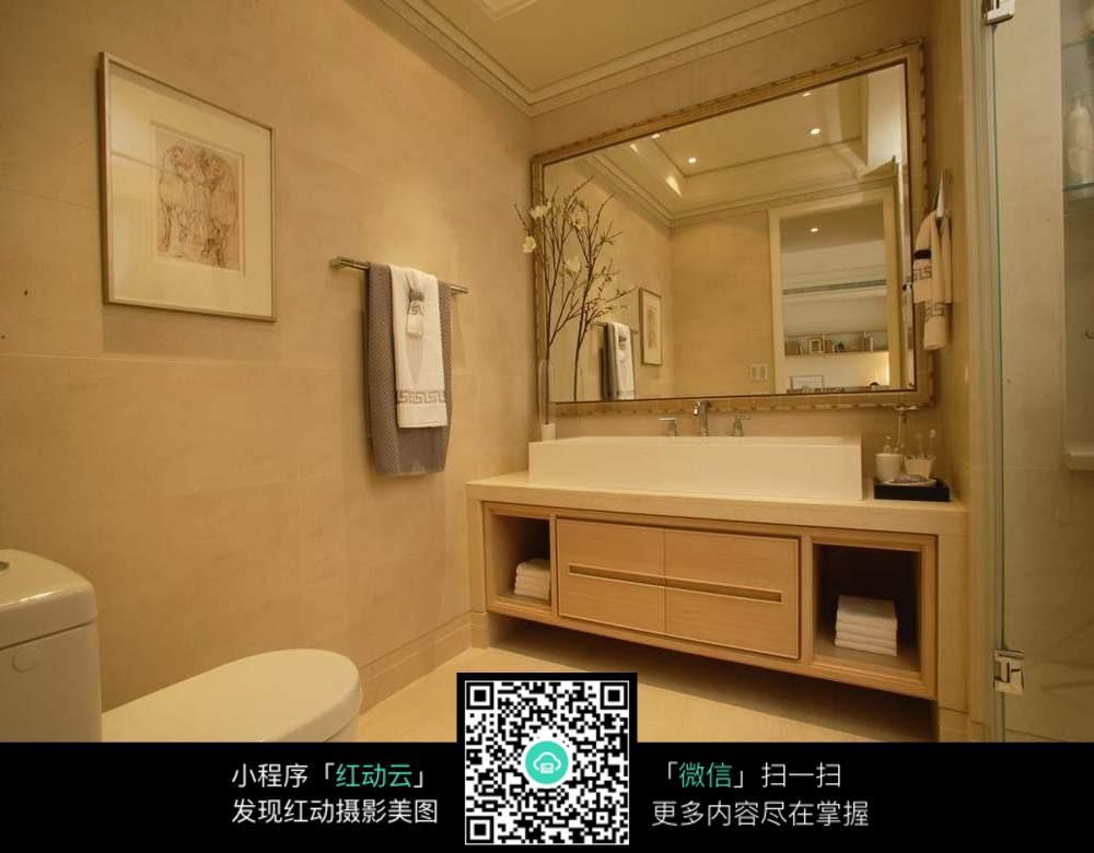 免费素材 图片素材 环境居住 室内设计 浴室洗手台与马桶
