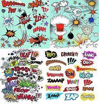 爆破POP卡通艺术字体矢量素材