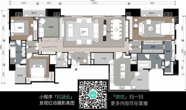 大空间室内设计平面布置图