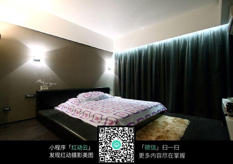 大气卧室效果图_室内设计图片