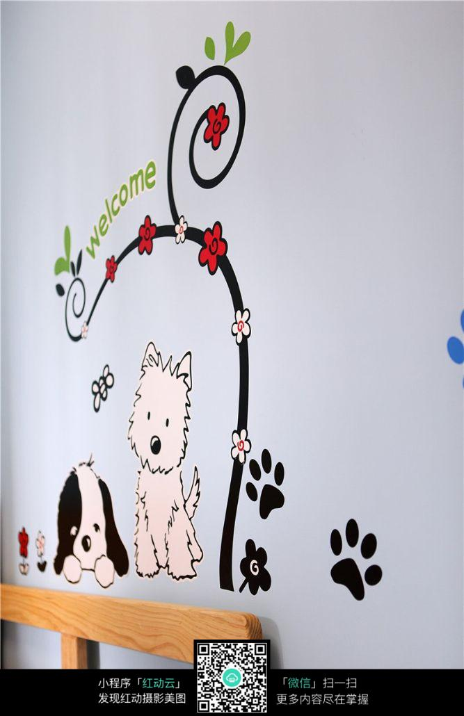 儿童房墙上贴画装饰图片