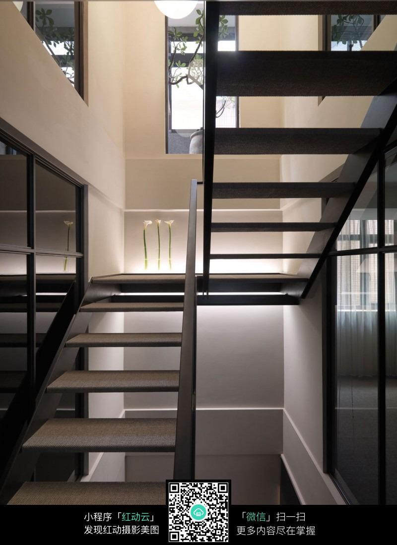 复式镂空梯子楼梯设计效果图图片免费下载 编号5332066 红动网