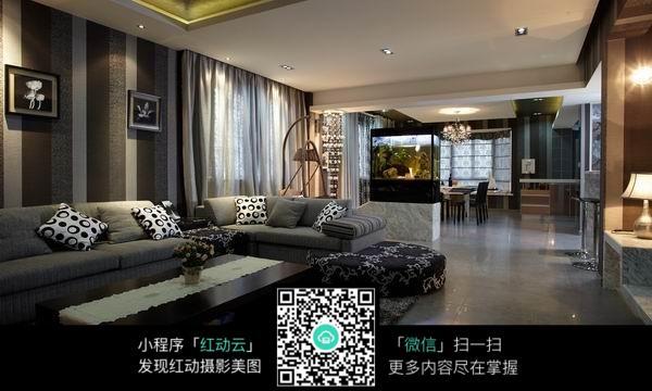 当前位置:免费素材>图片素材>环境居住>室内设计>家居客厅效果图全景图