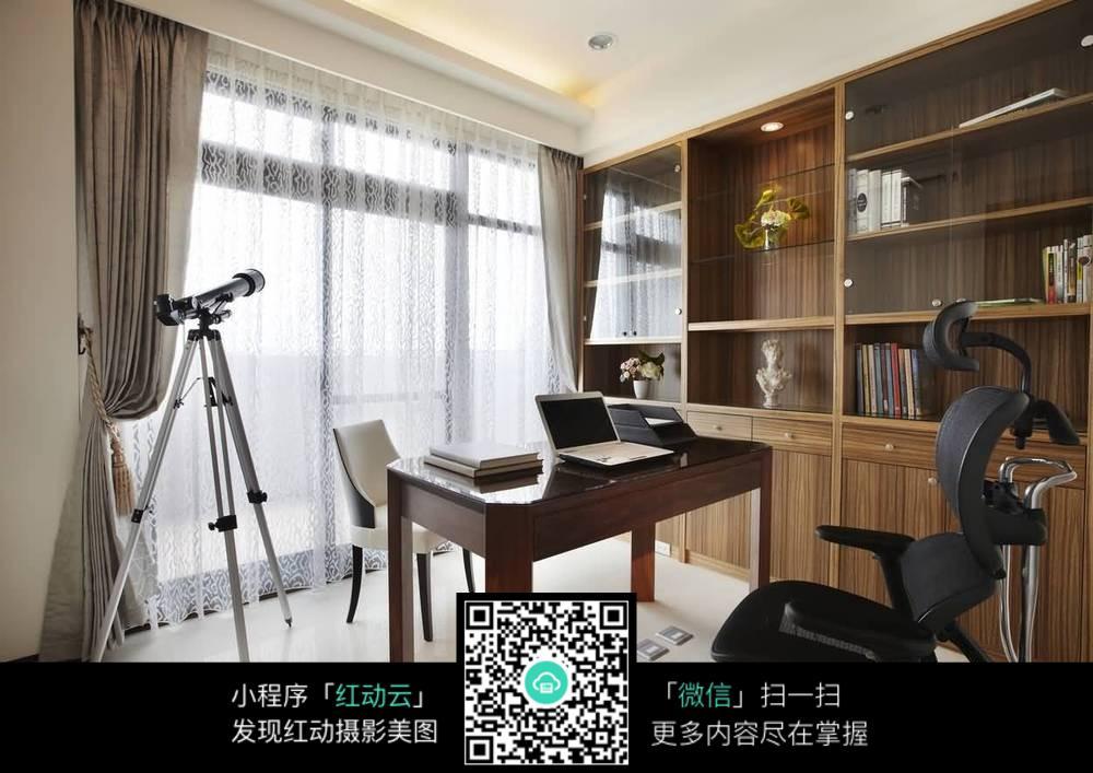 室内设计精品欧式罗马柱书房书柜设计图