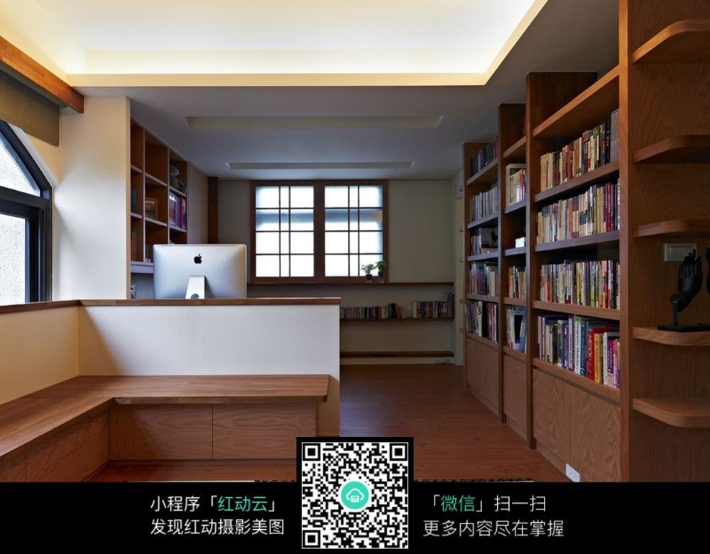 宽敞的书房设计 效果图_室内设计图片图片