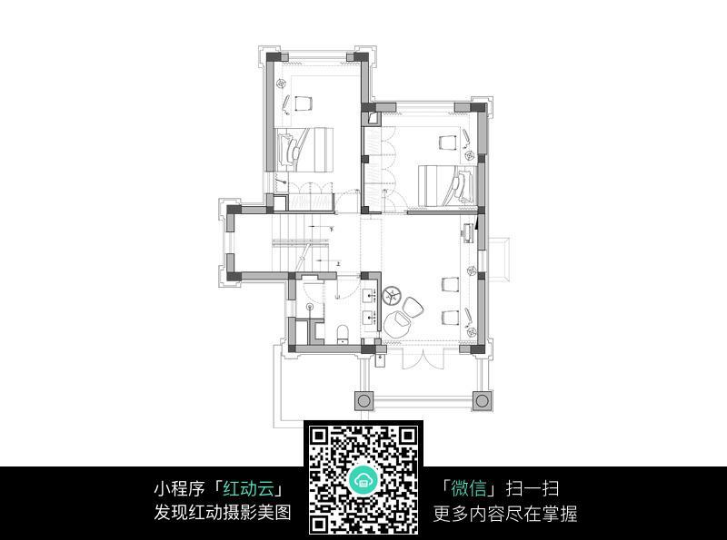 两室一厅室内装修平面设计图
